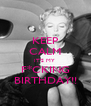 KEEP CALM IT'S MY  F*CKING BIRTHDAY!! - Personalised Poster A4 size