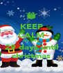 KEEP CALM it's only  29 days until christmas - Personalised Poster A4 size