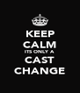 KEEP CALM ITS ONLY A CAST CHANGE - Personalised Poster A4 size