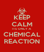 KEEP CALM ITS ONLY A CHEMICAL REACTION - Personalised Poster A4 size