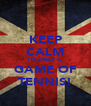 KEEP CALM ITS ONLY A GAME OF TENNIS! - Personalised Poster A4 size
