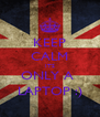 KEEP CALM ITS ONLY A  LAPTOP :) - Personalised Poster A4 size
