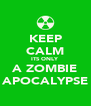 KEEP CALM ITS ONLY A ZOMBIE APOCALYPSE - Personalised Poster A4 size