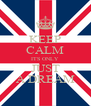 KEEP CALM ITS ONLY JUST A DREAM - Personalised Poster A4 size