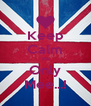 Keep Calm Its Only Mee...! - Personalised Poster A4 size