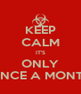 KEEP CALM IT'S ONLY ONCE A MONTH - Personalised Poster A4 size