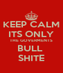 KEEP CALM ITS ONLY THE GOVERMENTS BULL  SHITE - Personalised Poster A4 size
