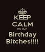 KEEP CALM Its our Birthday Bitches!!!! - Personalised Poster A4 size