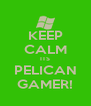 KEEP CALM ITS PELICAN GAMER! - Personalised Poster A4 size