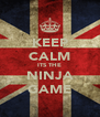 KEEP CALM ITS THE NINJA GAME - Personalised Poster A4 size