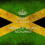 KEEP CALM ITS TRIPPLE STAR  SOUND - Personalised Poster A4 size