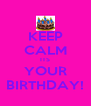 KEEP CALM ITS YOUR BIRTHDAY! - Personalised Poster A4 size