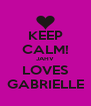 KEEP CALM! JAHV LOVES GABRIELLE - Personalised Poster A4 size