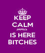 KEEP CALM JAMES  IS HERE BITCHES - Personalised Poster A4 size