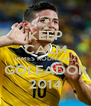 KEEP CALM JAMES RODRIGUEZ GOLEADOR 2014 - Personalised Poster A4 size