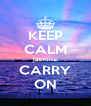 KEEP CALM jasmine CARRY ON - Personalised Poster A4 size