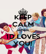 KEEP CALM JAZMIN, 1D LOVES YOU! - Personalised Poster A4 size