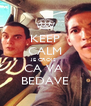 KEEP CALM JE CROIS  CA VA  BEDAVE - Personalised Poster A4 size