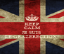 KEEP CALM  JE SUIS LE GRAZERECTION! - Personalised Poster A4 size