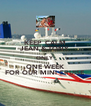 KEEP  CALM JEAN & TONY ONLY ONE WEEK FOR OUR MINI CRUISE - Personalised Poster A4 size