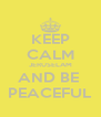 KEEP CALM JERUSELAM AND BE  PEACEFUL - Personalised Poster A4 size