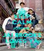 KEEP CALM JORDAN, JAI BROOKS LOVES YA - Personalised Poster A4 size