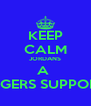 KEEP CALM JORDANS A  RANGERS SUPPORTER - Personalised Poster A4 size