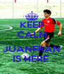 KEEP CALM  JUANFRAN IS HERE  - Personalised Poster A4 size