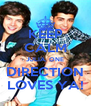 KEEP CALM JULIA, ONE DIRECTION LOVES YA! - Personalised Poster A4 size
