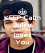 KEEP Calm Julye Austin Mahone loves You - Personalised Poster A4 size