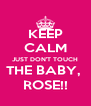 KEEP CALM JUST DON'T TOUCH THE BABY,  ROSE!! - Personalised Poster A4 size