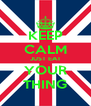 KEEP CALM JUST EAT YOUR THING - Personalised Poster A4 size