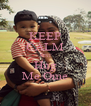 KEEP CALM JUST Hug Me Ome - Personalised Poster A4 size