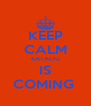 KEEP CALM KATAOU IS COMING  - Personalised Poster A4 size
