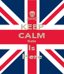 KEEP CALM Kate Is Here - Personalised Poster A4 size