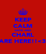 KEEP CALM KATIE AND CHARL ARE HERE!!<3 - Personalised Poster A4 size