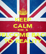 KEEP CALM KIM  & WELCOME BACK TO REALITY - Personalised Poster A4 size