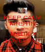 KEEP CALM KIRSTIN     ZAYN  MALIK X LOVES U !! - Personalised Poster A4 size