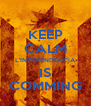 KEEP CALM L'INDEPENDENCIA IS COMMING - Personalised Poster A4 size