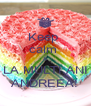 Keep  calm  & LA MULTI ANI ANDREEA! - Personalised Poster A4 size