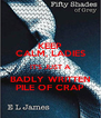 KEEP CALM, LADIES IT'S JUST A BADLY WRITTEN PILE OF CRAP - Personalised Poster A4 size