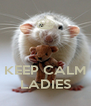 KEEP CALM LADIES - Personalised Poster A4 size