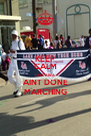 KEEP CALM LAKE AREA AINT DONE MARCHING - Personalised Poster A4 size