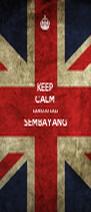 KEEP CALM LAN OJO LALI SEMBAYANG  - Personalised Poster A4 size