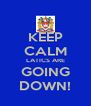 KEEP CALM LATICS ARE GOING DOWN! - Personalised Poster A4 size
