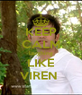KEEP CALM laughing LIKE VIREN  - Personalised Poster A4 size