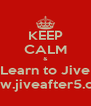 KEEP CALM & Learn to Jive www.jiveafter5.com - Personalised Poster A4 size