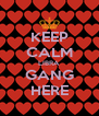 KEEP CALM LIBRA GANG HERE - Personalised Poster A4 size