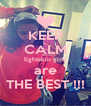 KEEP CALM lightskin girls are THE BEST !!! - Personalised Poster A4 size
