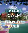 KEEP CALM LIKE DANIEL  TIGER  - Personalised Poster A4 size